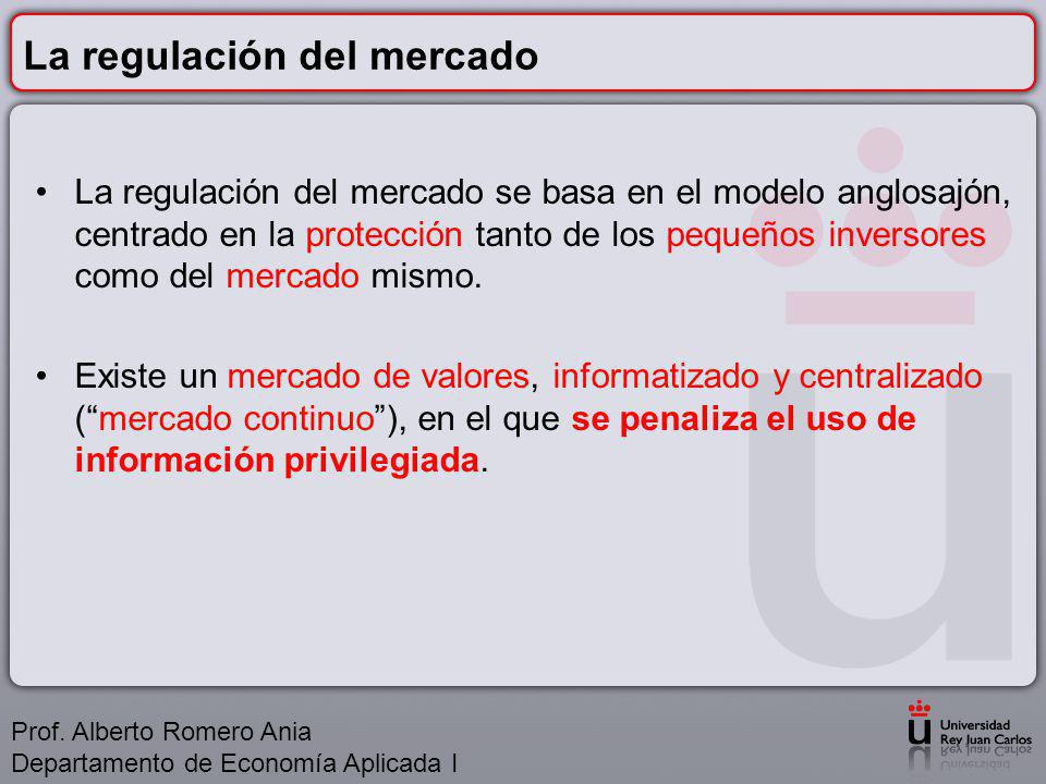 La regulación del mercado