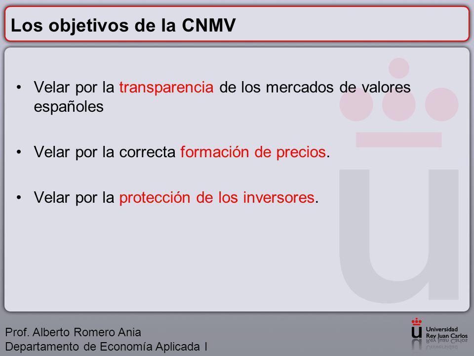Los objetivos de la CNMV
