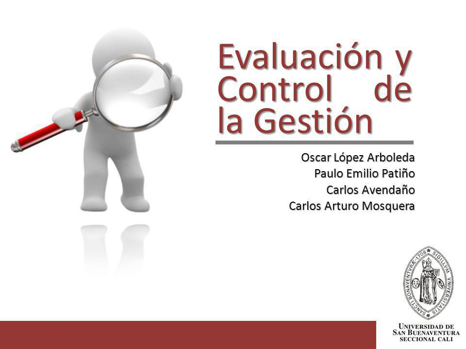 Evaluación y Control de la Gestión