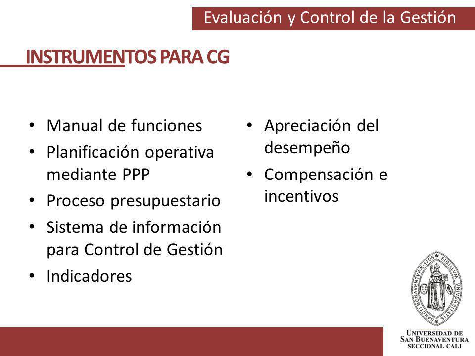 INSTRUMENTOS PARA CG Manual de funciones