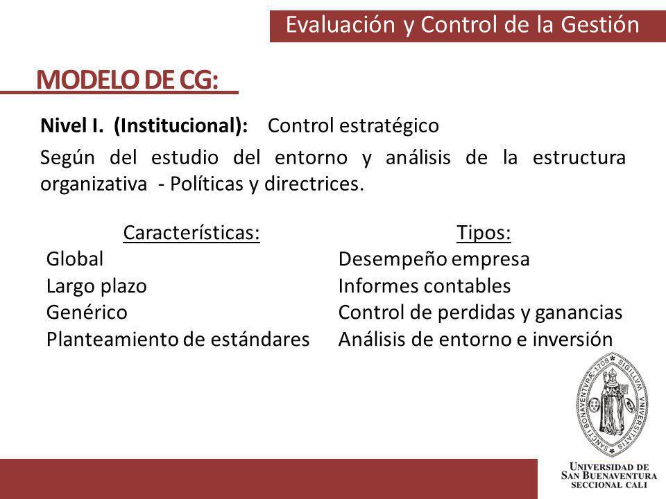 MODELO DE CG: