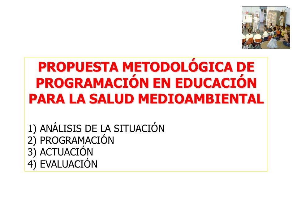 PROPUESTA METODOLÓGICA DE PROGRAMACIÓN EN EDUCACIÓN PARA LA SALUD MEDIOAMBIENTAL