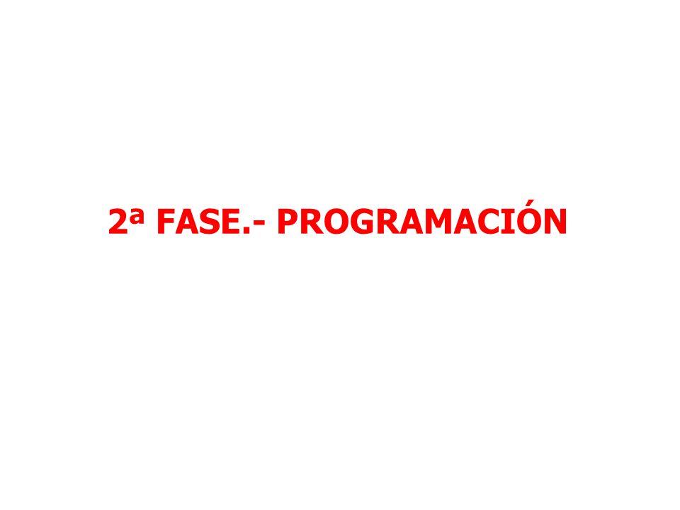 2ª FASE.- PROGRAMACIÓN