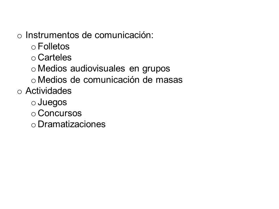 Instrumentos de comunicación: