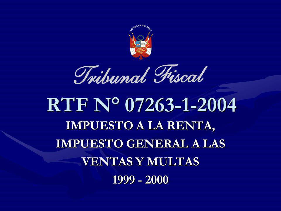 RTF N° 07263-1-2004 IMPUESTO A LA RENTA, IMPUESTO GENERAL A LAS