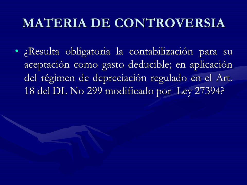 MATERIA DE CONTROVERSIA