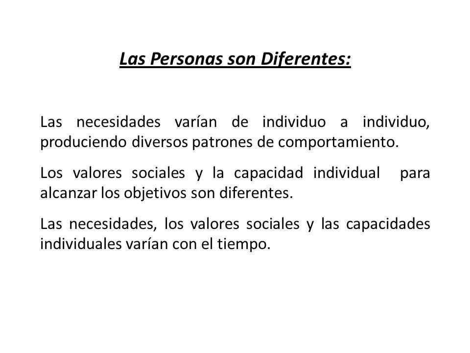 Las Personas son Diferentes: