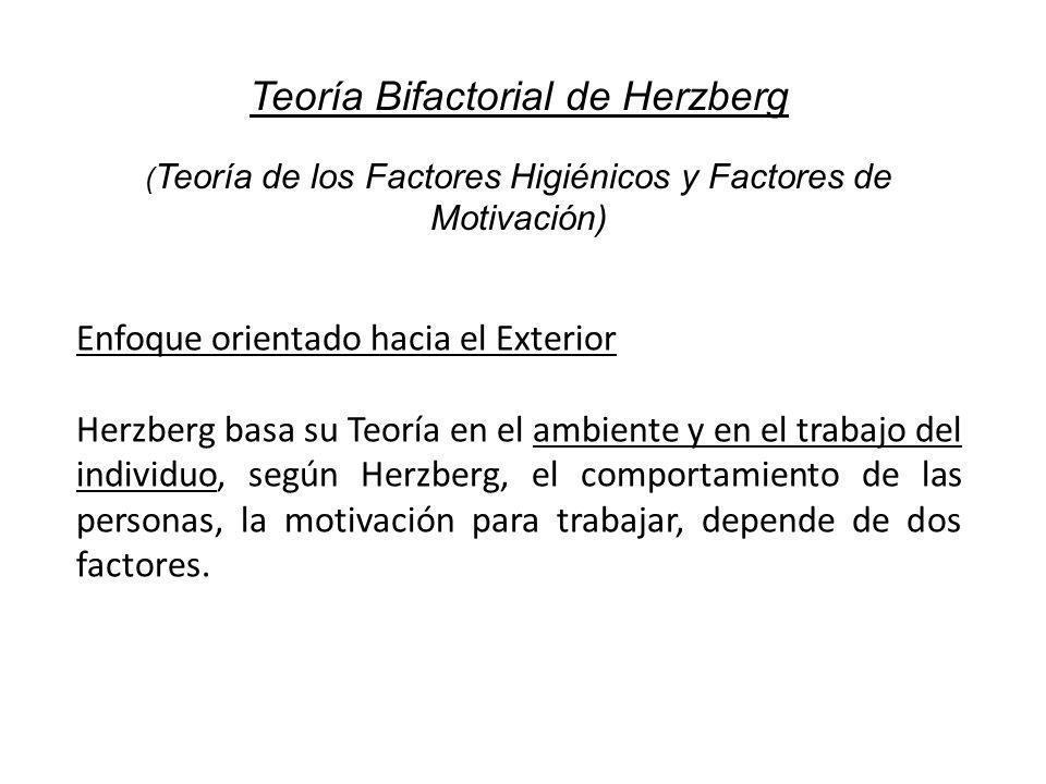 Teoría Bifactorial de Herzberg