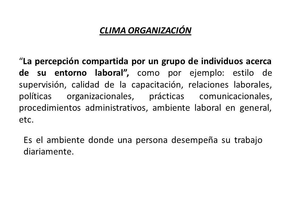CLIMA ORGANIZACIÓN