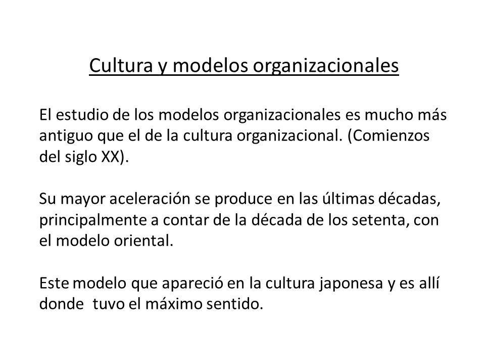 Cultura y modelos organizacionales