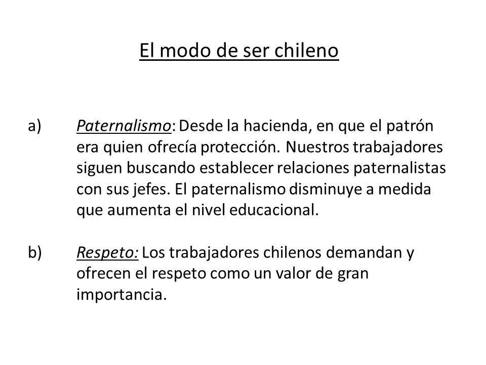 El modo de ser chileno