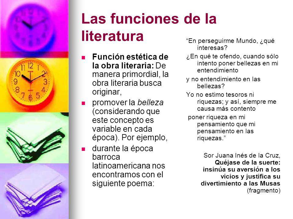 Las funciones de la literatura