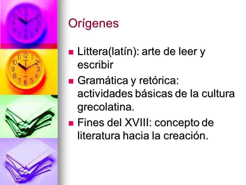 Orígenes Littera(latín): arte de leer y escribir