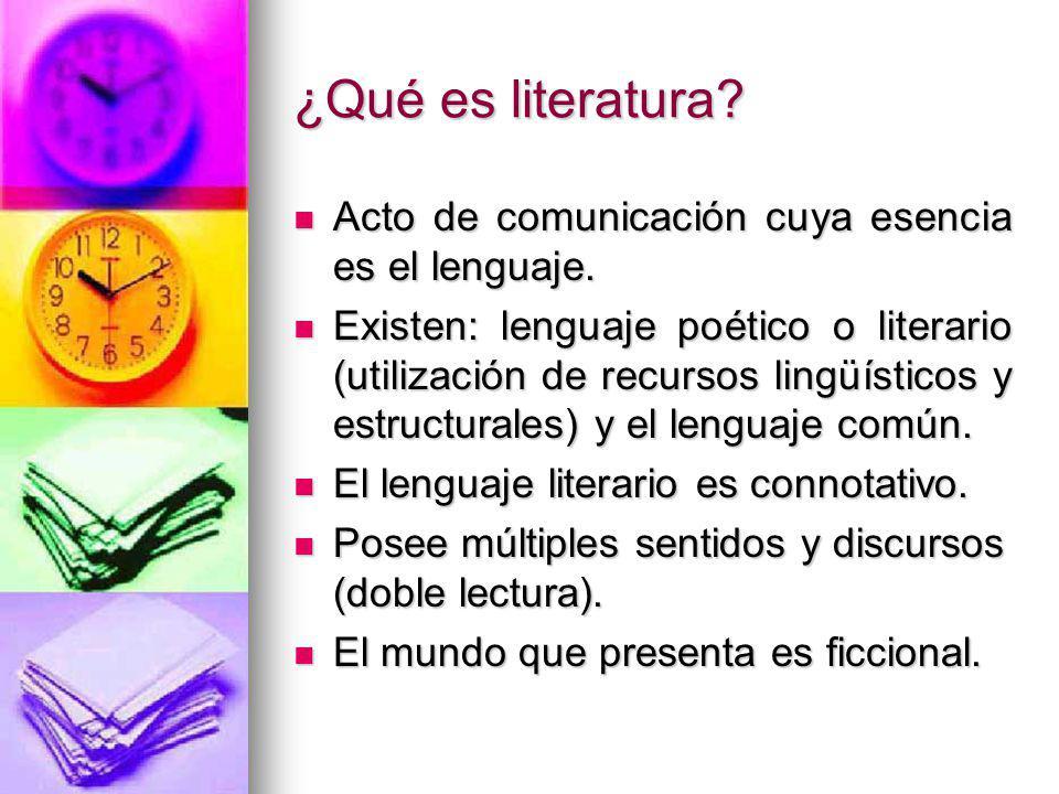 ¿Qué es literatura Acto de comunicación cuya esencia es el lenguaje.
