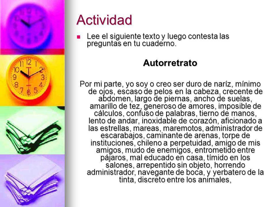 Actividad Autorretrato