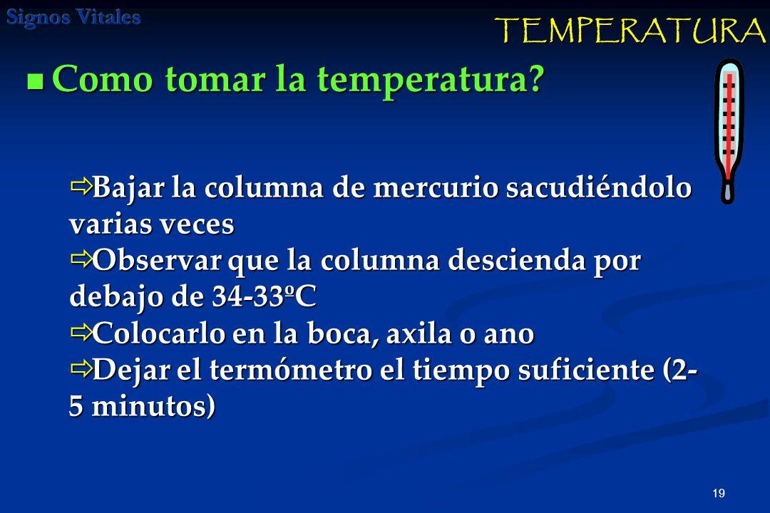 Como tomar la temperatura