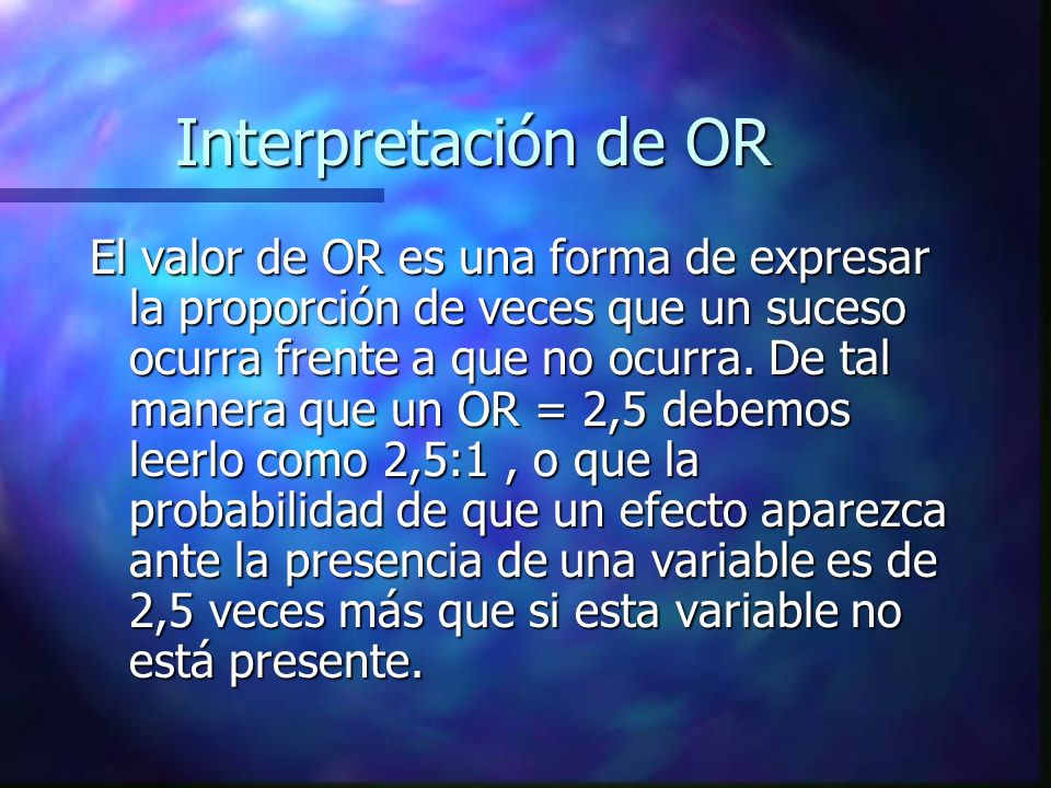 Interpretación de OR