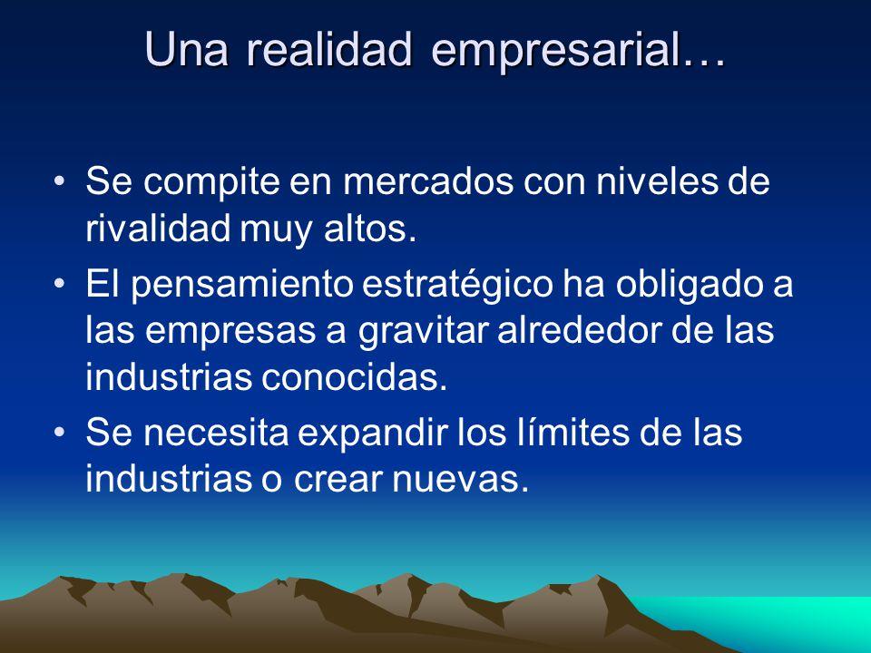 Una realidad empresarial…