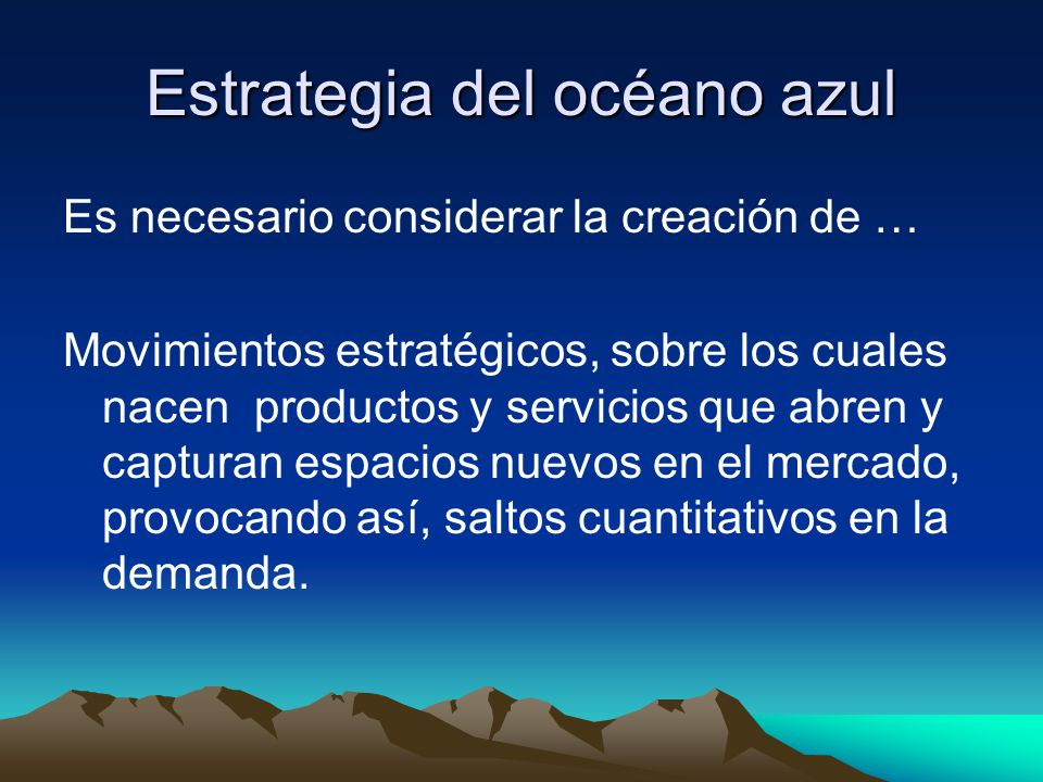 Estrategia del océano azul