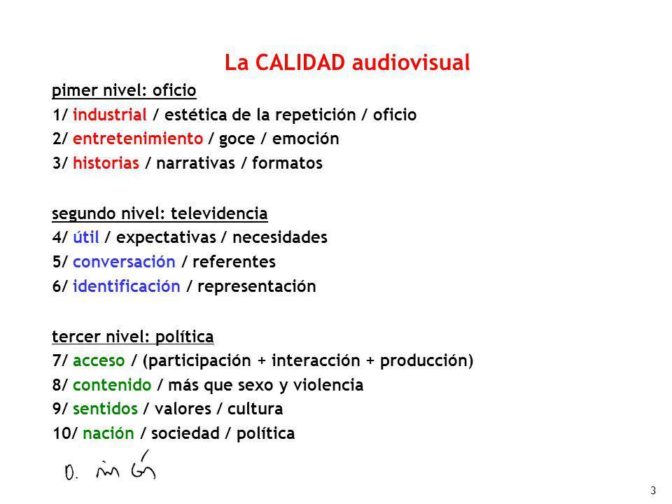 La CALIDAD audiovisual