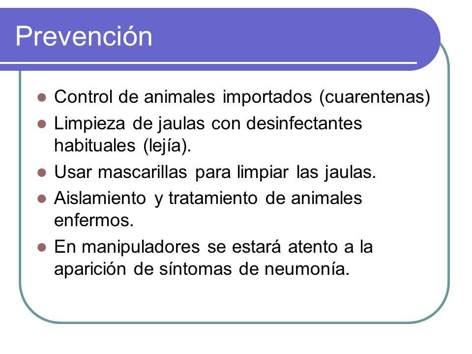 Prevención Control de animales importados (cuarentenas)