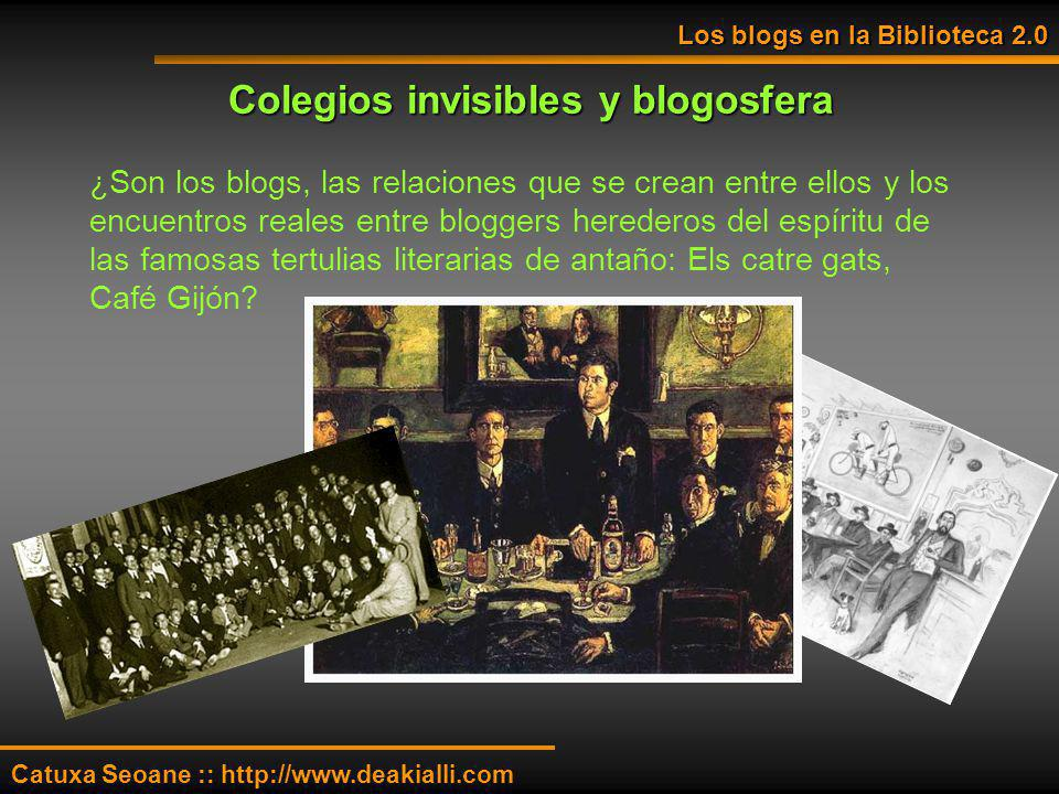 Colegios invisibles y blogosfera