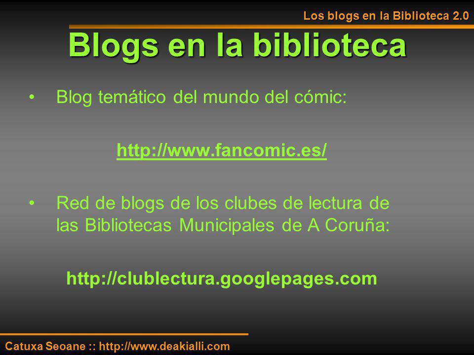 Blogs en la biblioteca Blog temático del mundo del cómic: