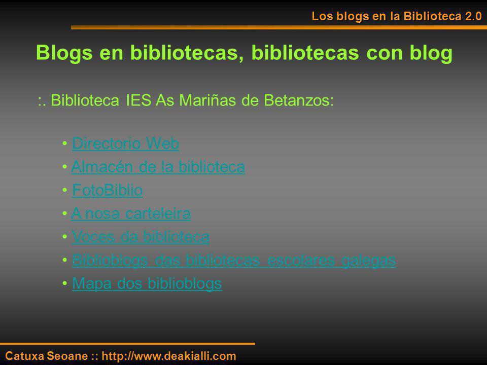 Blogs en bibliotecas, bibliotecas con blog
