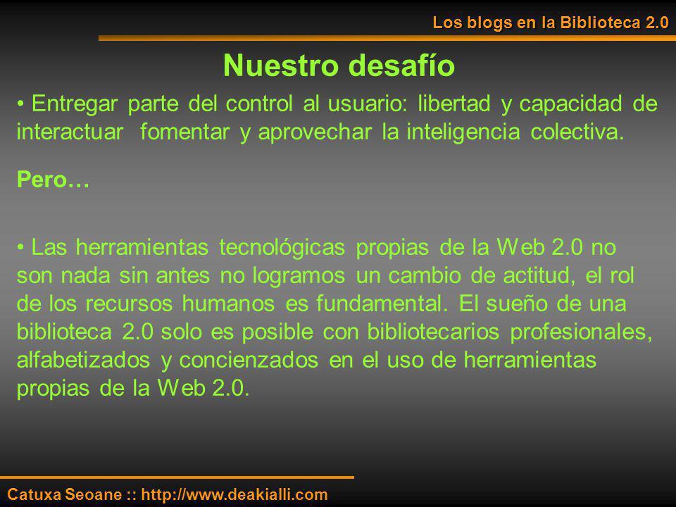Los blogs en la Biblioteca 2.0