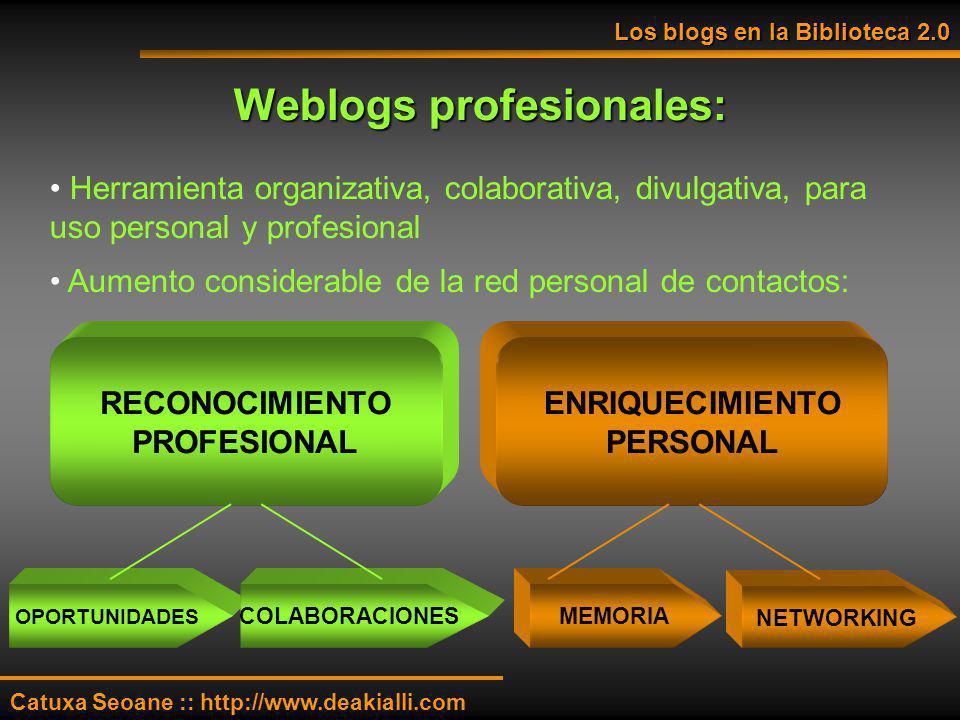 Weblogs profesionales: