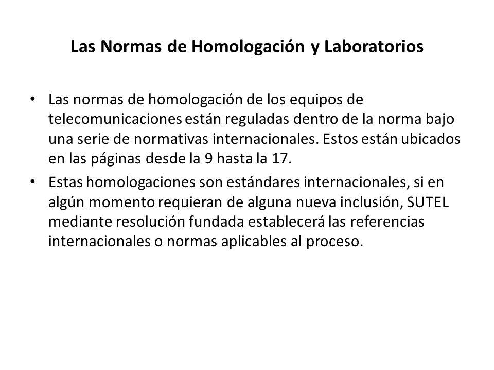 Las Normas de Homologación y Laboratorios