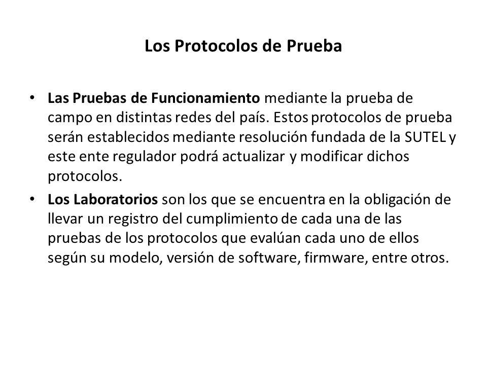 Los Protocolos de Prueba