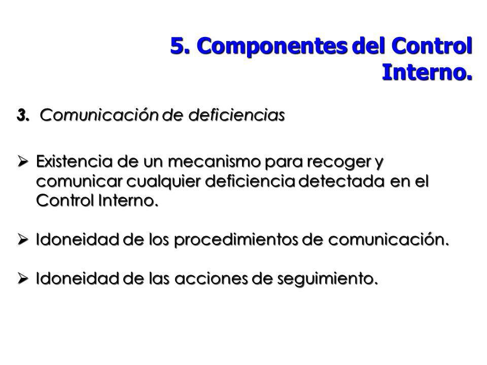 5. Componentes del Control Interno.