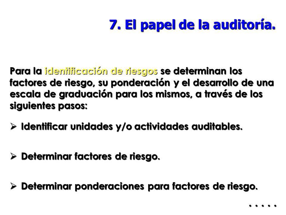 7. El papel de la auditoría.