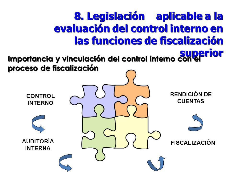 8. Legislación aplicable a la evaluación del control interno en las funciones de fiscalización superior