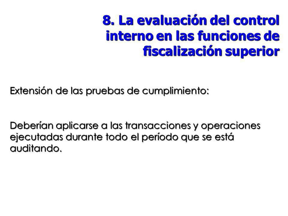 8. La evaluación del control interno en las funciones de fiscalización superior