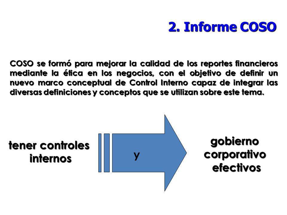 2. Informe COSO gobierno tener controles corporativo internos y