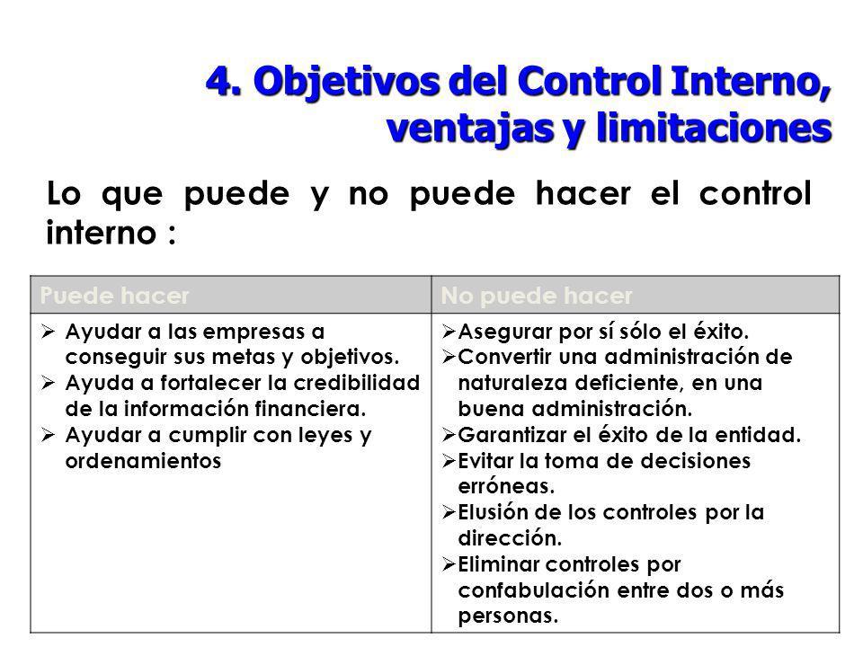 Lo que puede y no puede hacer el control interno :