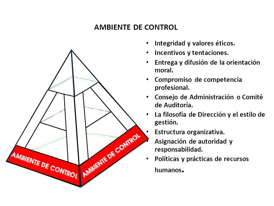 AMBIENTE DE CONTROL Integridad y valores éticos.