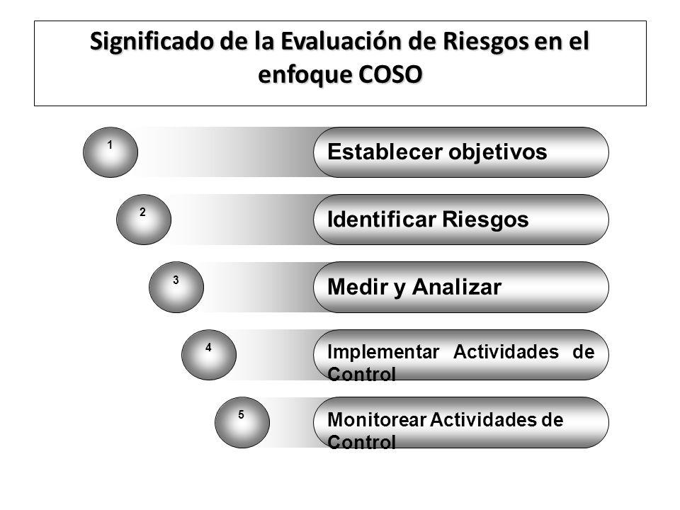 Significado de la Evaluación de Riesgos en el enfoque COSO