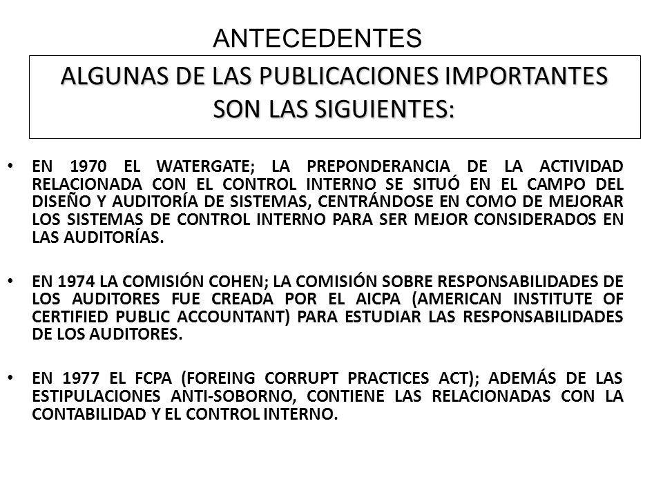 ALGUNAS DE LAS PUBLICACIONES IMPORTANTES SON LAS SIGUIENTES: