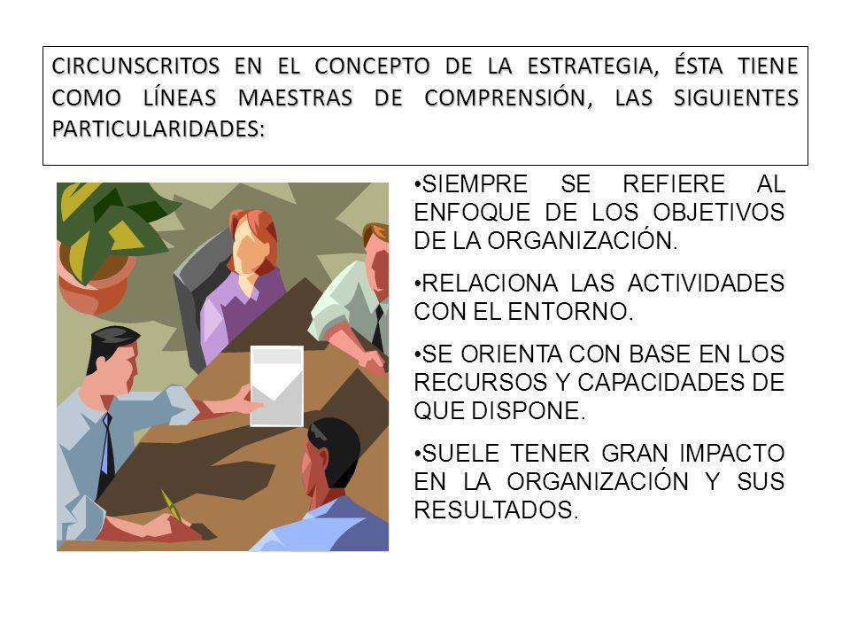 CIRCUNSCRITOS EN EL CONCEPTO DE LA ESTRATEGIA, ÉSTA TIENE COMO LÍNEAS MAESTRAS DE COMPRENSIÓN, LAS SIGUIENTES PARTICULARIDADES: