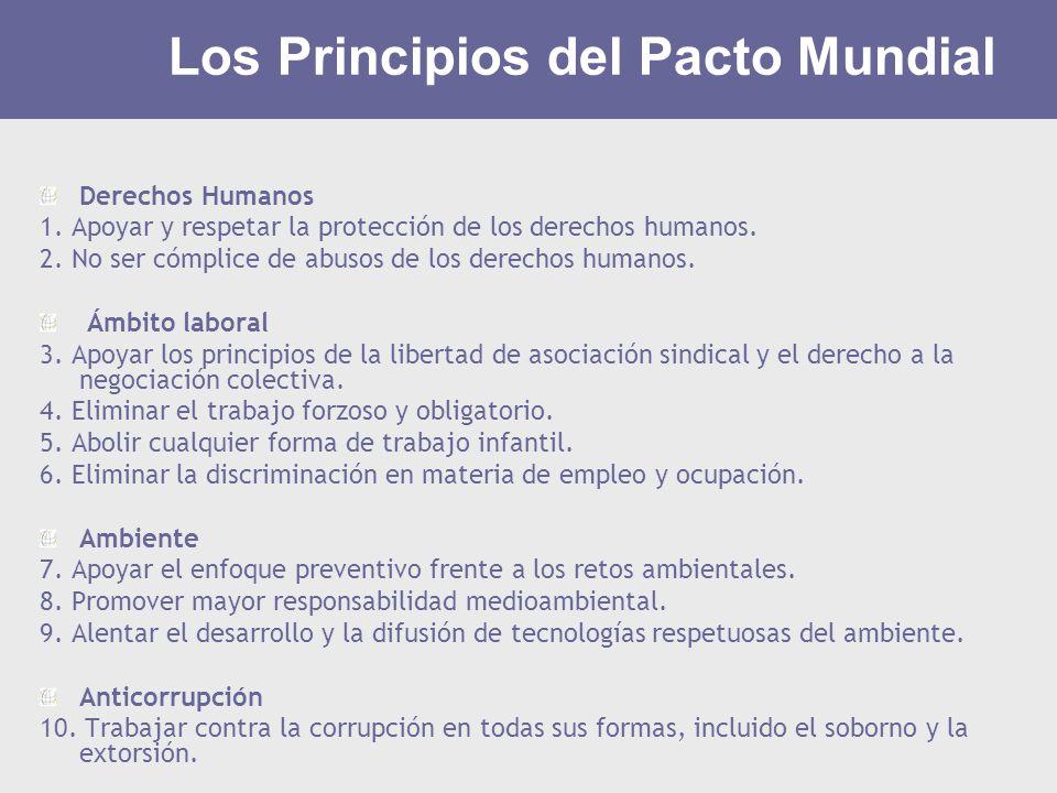 Los Principios del Pacto Mundial
