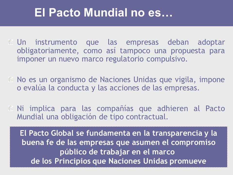 El Pacto Mundial no es…