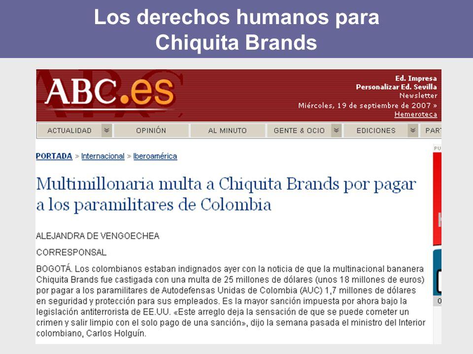 Los derechos humanos para Chiquita Brands