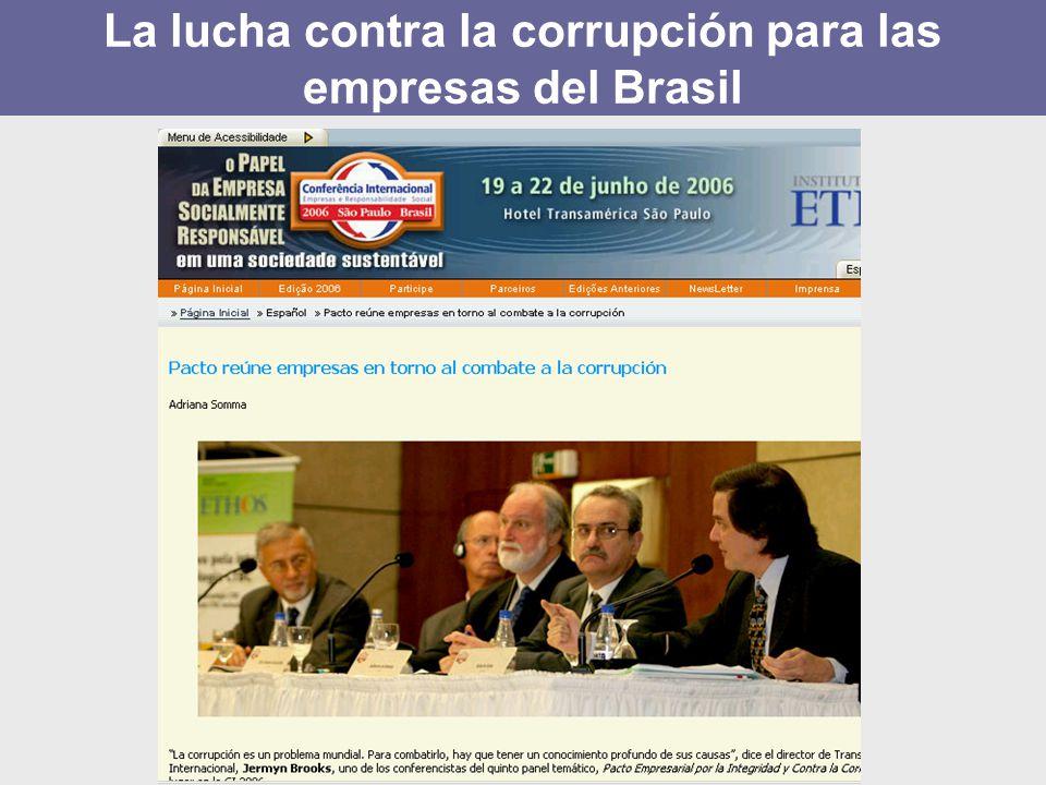 La lucha contra la corrupción para las empresas del Brasil