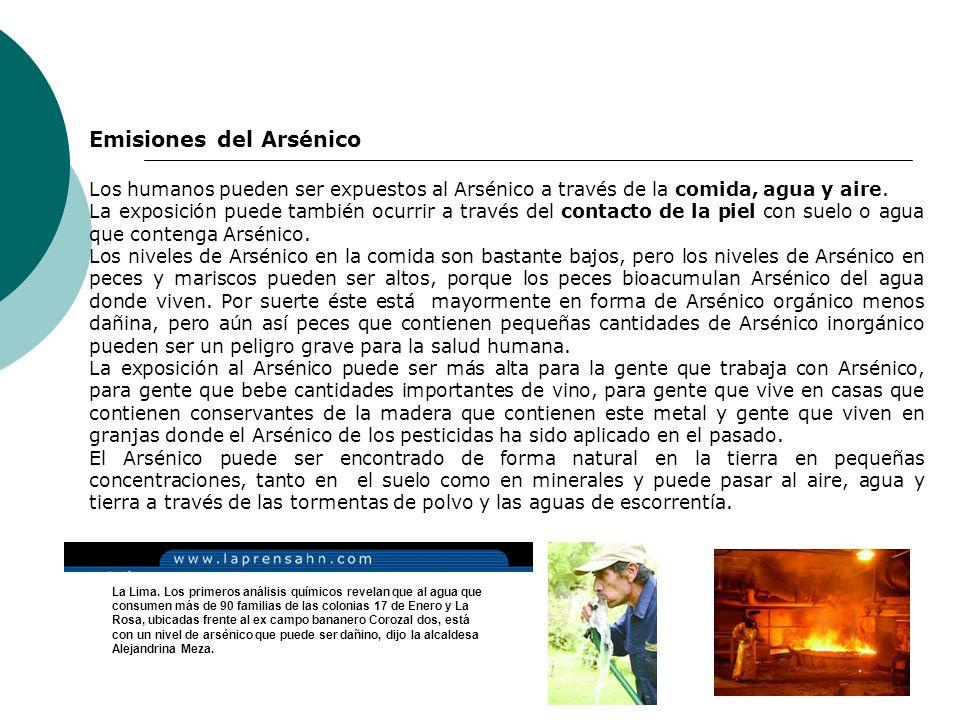 Emisiones del Arsénico