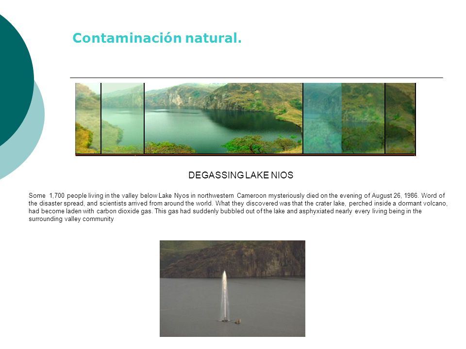 Contaminación natural.