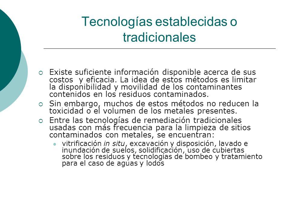 Tecnologías establecidas o tradicionales