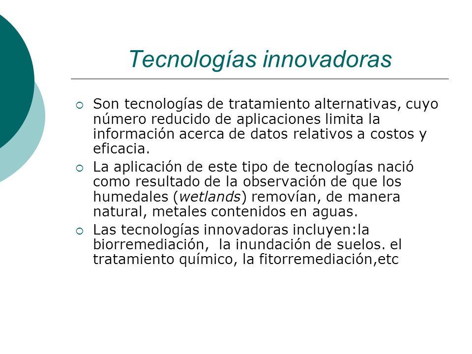 Tecnologías innovadoras